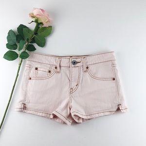 Levi's Girl's Pink Denim Shorts Sz 1 Juniors